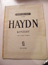 Partition Haydn Konzert in C Hautbois et Piano Edition Breitkopf