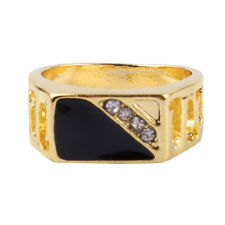 Men Fashion Creative Square Enamel Ring Band Rings Vintage Jewelry Gift IT