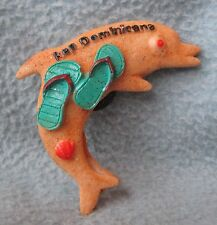 Republic Dominicana Dolphin 3D Magnet, Souvenir, Travel, Refrigerator