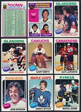 1975-76 Topps Hockey Complete Your Set  (see list)  #101 - #199  ($0.99 - $9.00)