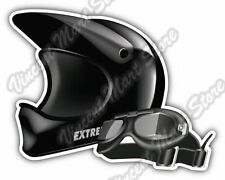"Dirt Bike Motocross Helmet Goggles Gift Car Bumper Vinyl Sticker Decal 5""X4"""