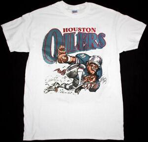 Vintage Houston Oilers Men's T-shirt White Unisex Cotton Reprint TK2315