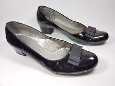 Luftpolster Ara Charol Negro Zapatos De Bloque Talón Mediados 6.5 H Reino Unido