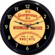 Washington Senators Old Georgetown Nationals Baseball Beer Coaster Wall Clock
