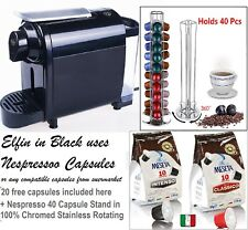 Nespresso style lattissima pod coffe machine with fast drive milk frother 72C