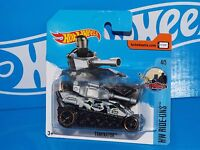 Hot Wheels 2017 Short Card HW Ride-Ons Series #67 Tanknator Silver