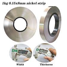 0.15x8mm 1kg Nickel Plated Steel Strap Strip Sheets For Battery Spot Welder New