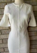 NEW Rachel Parcell MONACO Bell Flutter Sleeve Ivory Sheath Dress M