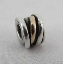 Genuine PANDORA rare sterling silver and 14ct Gold Ring Charm 790153 FREE P&P