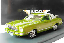 FORD MUSTANG II GHIA METAL GREEN 1974 NEO 44760 1/43 MKII LEFT HAND DRIVE LHD