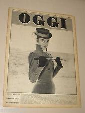 OGGI=1956/11= AUDREY HEPBURN COVER MAGAZINE WAR AND PEACE FILM MOVIE=