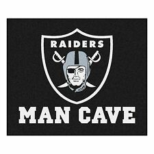 Oakland Raiders Man Cave 5' X 6' Tailgater Area Rug Floor Mat