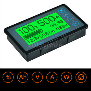 New 50A 100A 350A 500A 120V Battery Capacity Tester Coulomb Counter Panel Meter