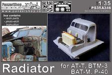 Radiator AT-T BTM-3 BAT-M P-40 resin detail set 1/35 PanzerShop Trumpeter