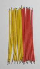 Connector wire - Red / Yellow 180mm - 20 Pack - 300V Rated - 24AWG - Free P&P