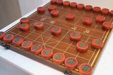 "Chinese Chess, Xiangqi 19.7"" MDF Board, 1.9"" Red Pear Chess Pieces"