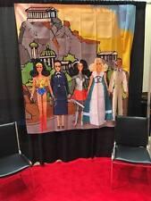 Mego 70's Lynda Carter   Wonder Super Hero Action Figure  Woman Shower Curtain