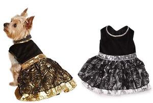 Dog Dress Glam Silver Gold Dress Pet BRAND NEW Holiday