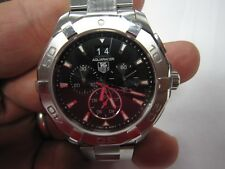 SUPER NICE! TAG HEUER MENS AQUARACER SS QUARTZ CHRONOGRAPH 300m MODEL#CAY1110
