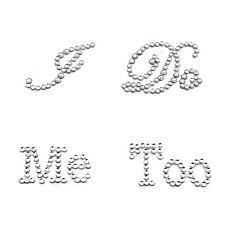 Creative White Clear Rhinestone Wedding Decor I Do Me Too Bridal Groom Stickers