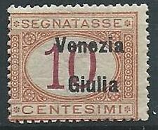 1918 VENEZIA GIULIA SEGNATASSE 10 CENT MNH ** - ED522-2
