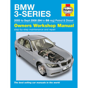 BMW 3-SERIES PETROL & DIESEL (2005-SEPT 2008) 54 TO 58 HAYNES ONLINE MANUAL