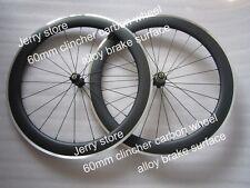 New!700C 60mm deep clincher full carbon fiber wheel with alloy brake 25mm width