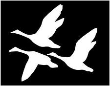 WHITE Vinyl Decal Geese flying goose ducks hunting country truck sticker bow