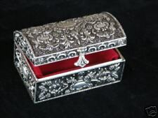 Hannah Chest Style Jewelry Box Silver Plated