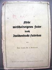 MEHR WIRTSCHAFTSEIGEMES FUTTER DURCH ZWISCHENORUCHT FUTTERBAU Von Landw Tedesco
