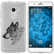 Case für HTC One X10 Silikon-Hülle Floral Wolf M3-1 + 2 Schutzfolien