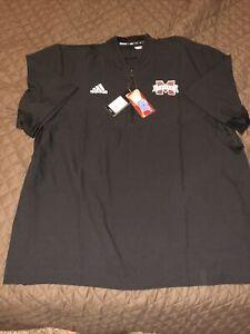 Mississippi State Bulldogs Adidas Quarter 1/4 Zip Pullover Shirt Black MSU XL