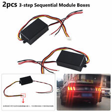 For Car Turn Signal Light 3 Step Sequential Chase Flash Module Boxes 2X