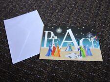 Colorful Peace Christmas Card Wise Men Nativity Sheep Karen Tye Bentley