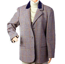 LAURA ASHLEY Blazer Jacket Hounds Tooth US10 UK12 New Wool Vintage