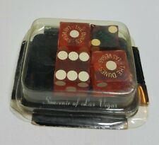 Vintage The DUNES Las Vegas 2 Dice Pairs in Souvenir Milno Box