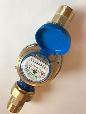 "DAE AS320U-150P 1-1/2"" Water Meter, Pulse Output, Gallon + Couplings"