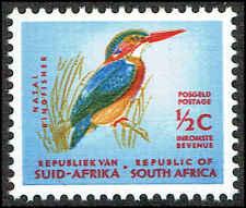 Scott # 317 - 1964 - ' Natal Pygmy Kingfisher ', Redrawn