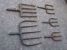 Vintage 5 pc Assorted Size Fishing Gaff Gig Hand Forged Cabin lots fishing decor