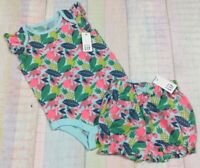 Gap Girls 3-6 Months Bright Tropical Fruit Shirt & Bloomer Shorts Outfit. Nwt
