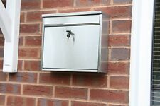 Stainless Steel Post Mail Letter Box Postbox Mailbox A4 Large Metal Silver