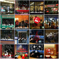 Merry Christmas Removable Snow Decoration Home Bedroom Wall Stickers Wallpaper
