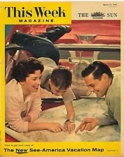 This Week Magazine March 15 1959 Pepsi Cola Prince Akihito Japan Pauline Trigere