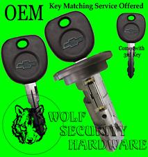 Chevy OEM Ignition Key Switch Lock Cylinder Tumbler Barrel 3 Chevy Logo Keys