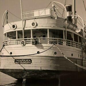 Photo of Wapama San Francisco Ship Boat Docked SF Maritime Ship Bay Area
