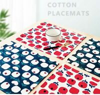 6-Pack Christmas Placemats Machine Washable Heat Resistant Table Mats for Dining
