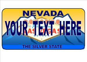 Personalised Birthday Gift, Novelty Number Plates Las Vegas Licence Plate