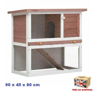 Outdoor Rabbit Hutch Syrian Hamster Cage Small Pet Animal Wood Box Large Playpen