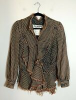 =ART= JUNYA WATANABE COMME DES GARCONS Brown Deconstructed Ruffle Top/Jacket US4