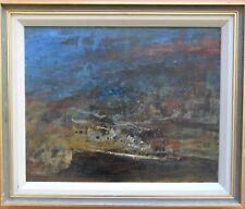 WIM (WILLEM ADRIAAN) BLOM 1927 EARLY ORIGINAL SIGNED OIL ON BOARD LANDSCAPE 1965